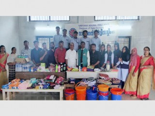 Materials collected by MMHSS - NSS unit for supporting the flood/landslide affected people in Wayanad and Nilambur, later it has been handed over to District NSS Cell for the distribution